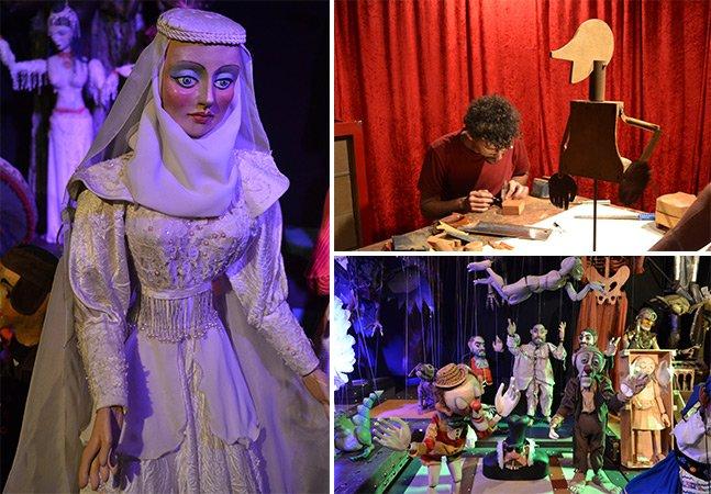 Viajamos pela trajetória do teatro de bonecos do grupo Giramundo em exposição em SP