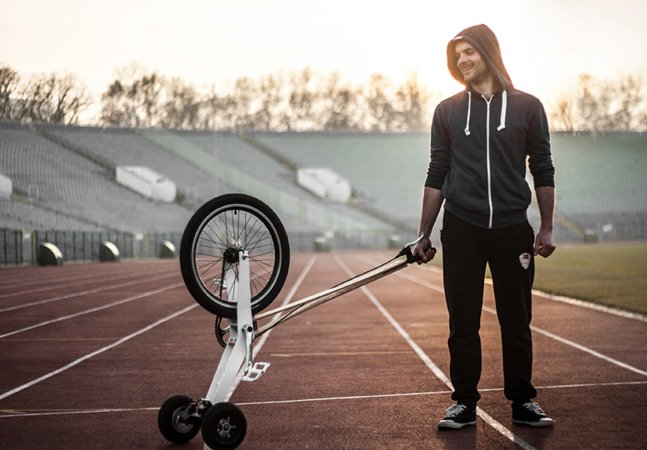Bicicleta ultra compacta propõe novo jeito de pedalar