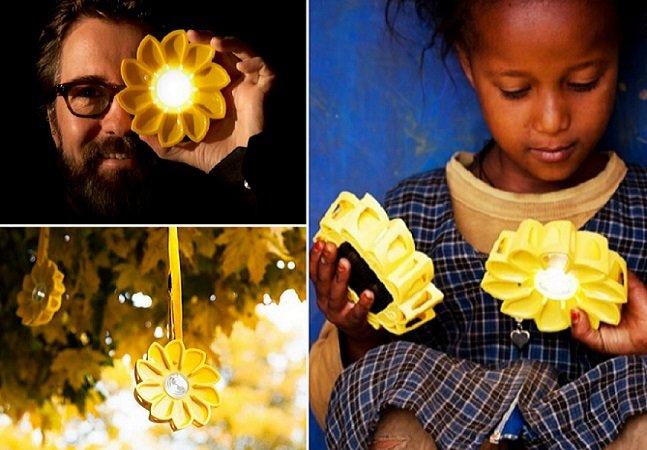 A flor amarela que está levando energia solar pra famílias carentes na África
