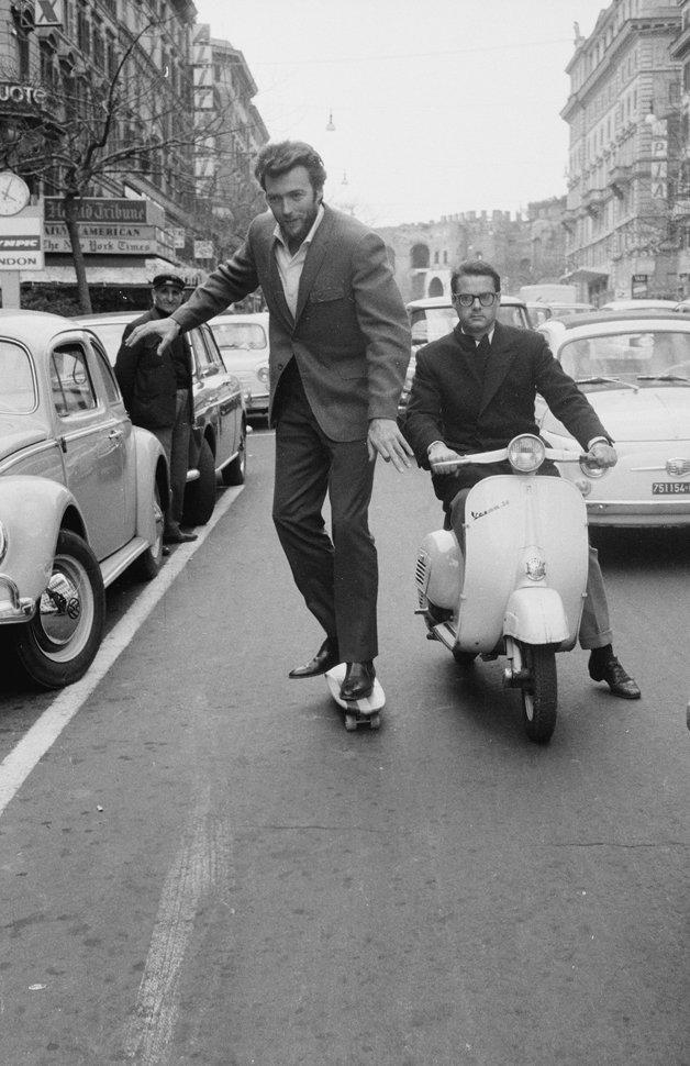 Clint Eastwood, Via Veneto, Rome, 1965.