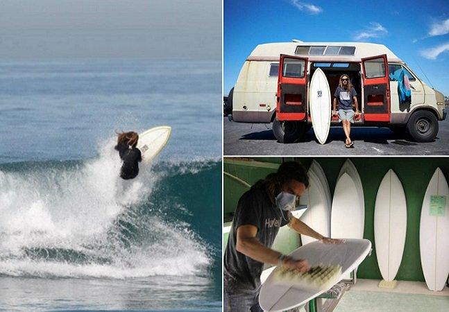 Marca produz pranchas de surf usando isopor reaproveitado
