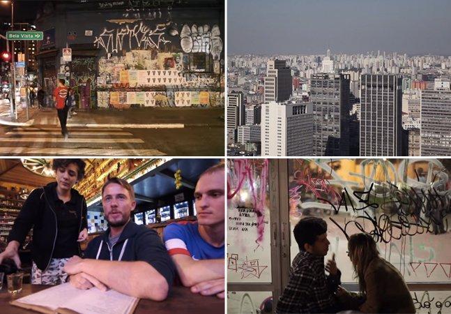 Curta mostra a visão de um gringo sobre a cidade de São Paulo