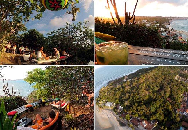 Conheça o bar que fica em um mirante na Praia da Pipa e tem uma vista de tirar o fôlego