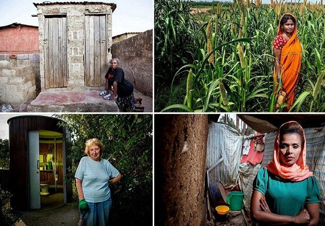 Série impressionante retrata mulheres e seus banheiros ao redor do mundo