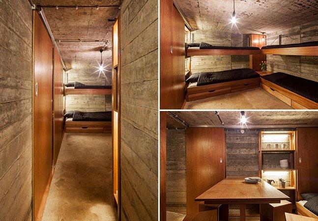 Bunker da Segunda Guerra Mundial é transformado em incrível casa de férias