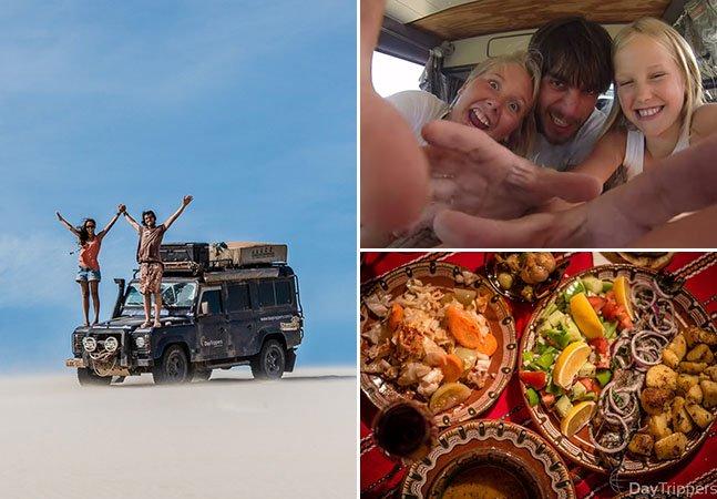 Casal completa 2 anos de volta ao mundo a bordo de um jipe e lança vídeo com melhores momentos