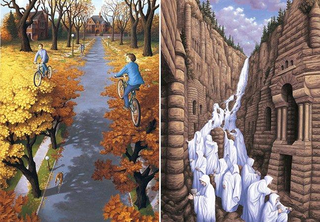 As ilustrações cheias de ilusões de ótica que vão dar um nó na sua cabeça