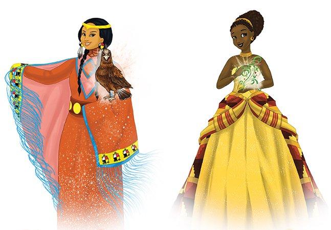 Professora cria personagens princesas que vão muito além de um rostinho bonito