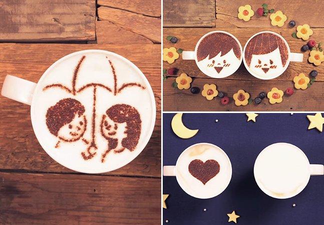 Marca japonesa usa mil xícaras de café com leite para criar incrível animação sobre o amor