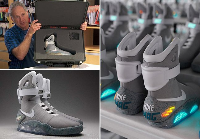 """O futuro é agora: Nike vai lançar tênis inspirado no filme """"De Volta para o Futuro"""" ainda esse ano"""