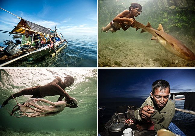 Série fotográfica retrata os últimos nômades que vivem no mar