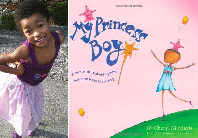 """Garoto de 5 anos que gosta de se vestir """"como uma princesa"""" inspira mãe a criar livro infantil"""