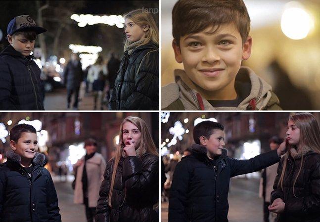 O que acontece quando se pede a um garoto que dê um tapa em uma menina?