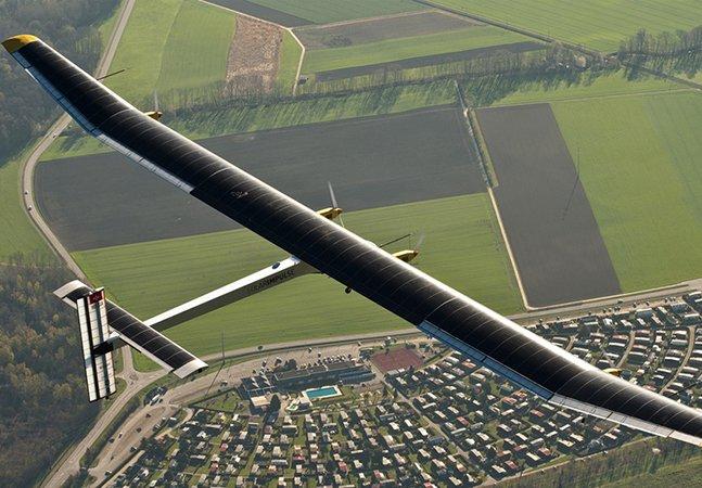 Combustível zero: avião vai dar a volta ao mundo usando apenas energia solar