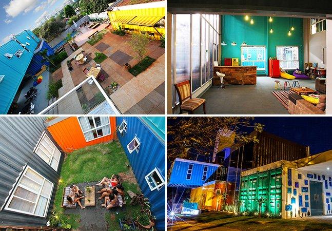 Conheça o hostel brasileiro feito de containers