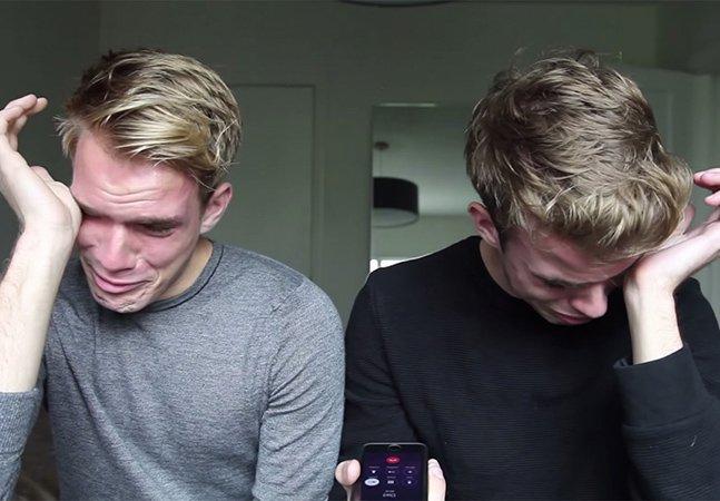 Irmãos gêmeos criam vídeo emocionante para contar ao pai que são gays