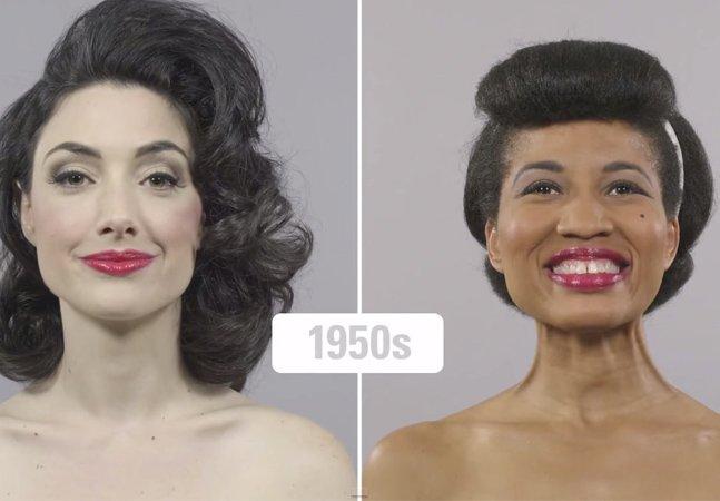 Novo vídeo que mostra a mudança dos padrões de beleza em 100 anos promove a diversidade étnica