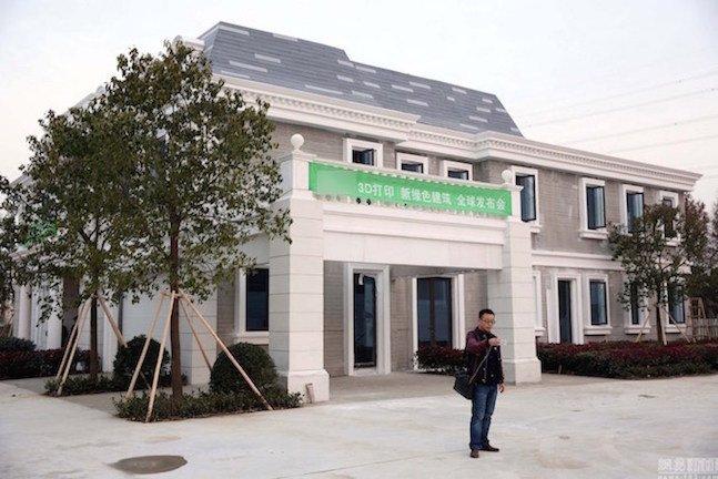 Empresa chinesa constrói mansão usando uma impressora 3D