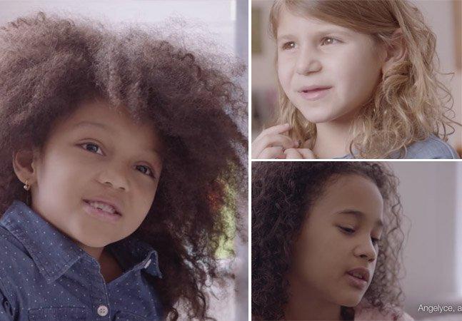 Campanha incentiva meninas a amarem seus cachos