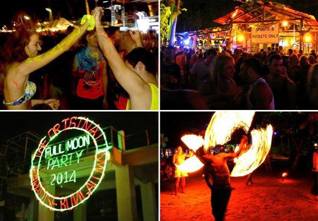 Conheça a fantástica Festa da Lua Cheia que acontece na Tailândia