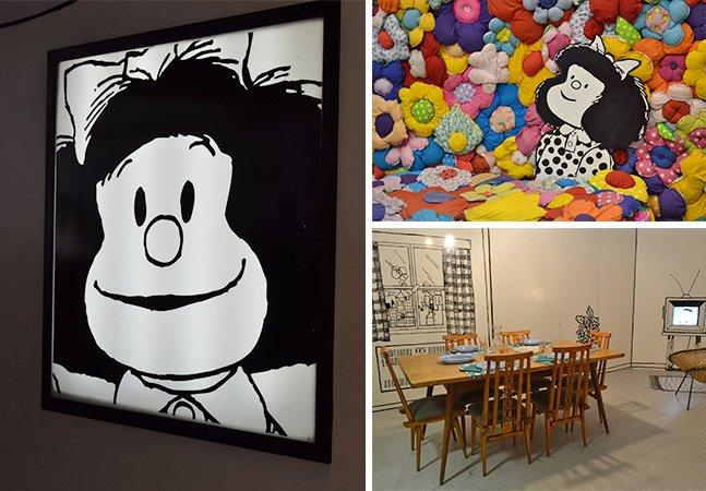 """Praça das Artes em SP recria """"O Mundo Segundo Mafalda"""""""