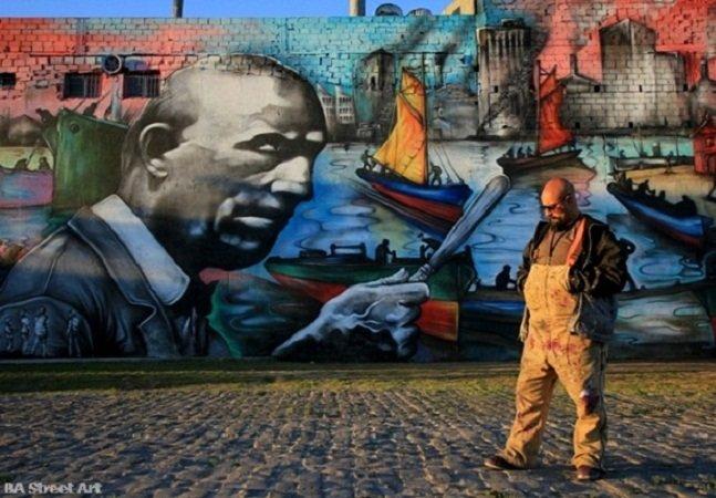 Artista de rua cria maior mural do mundo em Buenos Aires