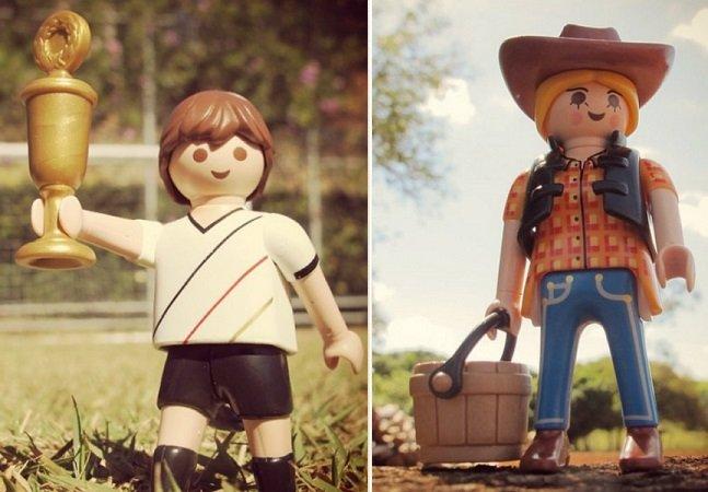 Fotógrafa faz sucesso ao dar vida aos bonecos Playmobil no Instagram
