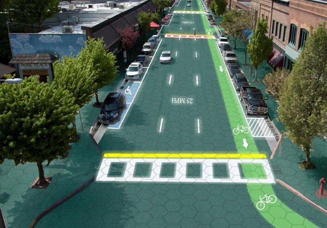 Casal recebe financiamento de mais de US$ 2 milhões para transformar asfalto em placas solares inteligentes nos EUA