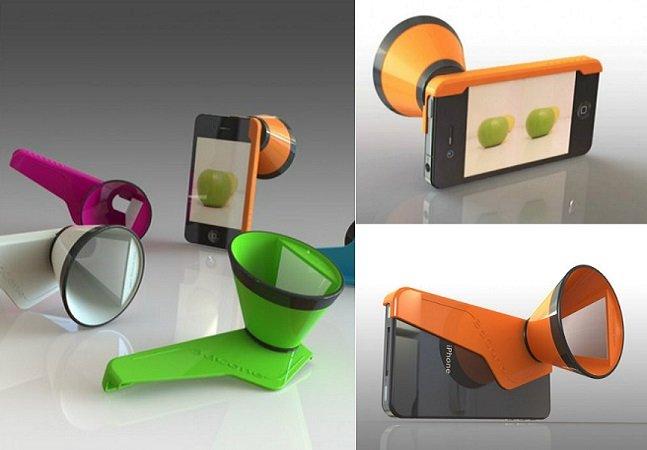 Acessório inovador para iPhone permite criar fotos e vídeos em 3D