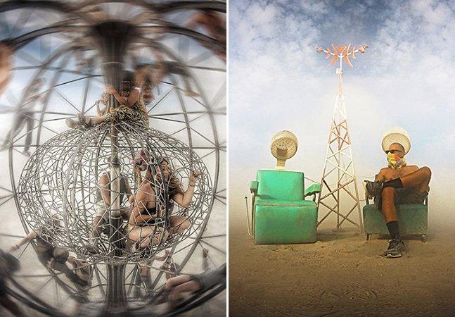 Fotógrafo registra os momentos mais loucos de sua vida no festival Burning Man