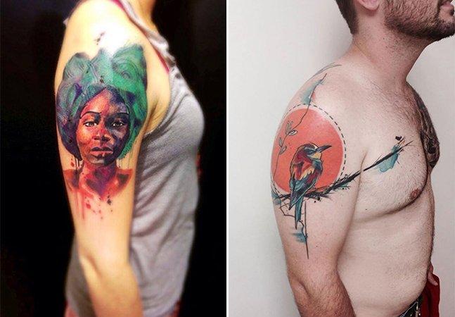 A arte do tatuador brasileiro autodidata Cássio Schneider