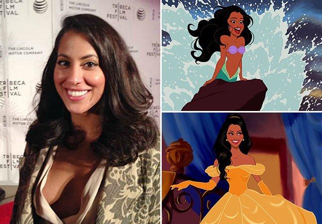 Jovem surpreende namorada ao transformá-la em princesas da Disney em ilustrações divertidas