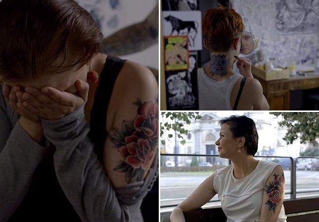 """Projeto tocante cobre tatuagens """"de cadeia"""" e ajuda a recuperar a autoestima de ex-detentas"""