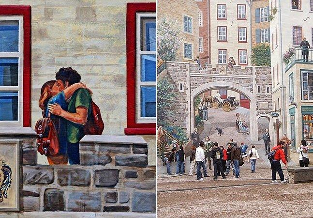 A cidade canadense coberta de murais que vão confundir seus sentidos