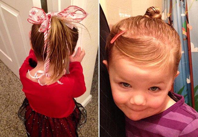 A história do pai que foi a uma escola de beleza para aprender a arrumar o cabelo da filha