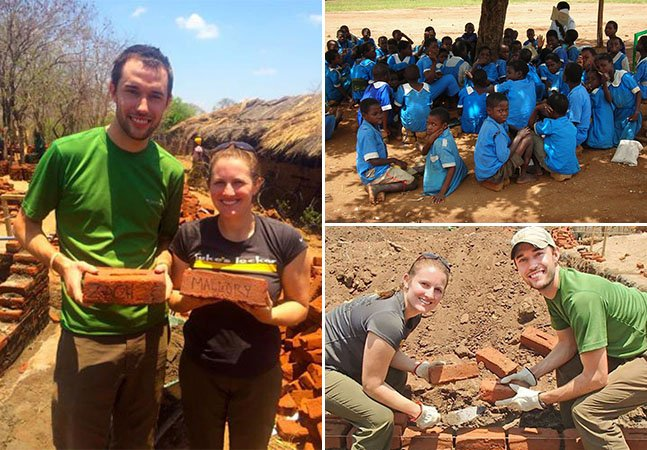 A história do casal que ajudou a construir uma escola na África em plena lua de mel