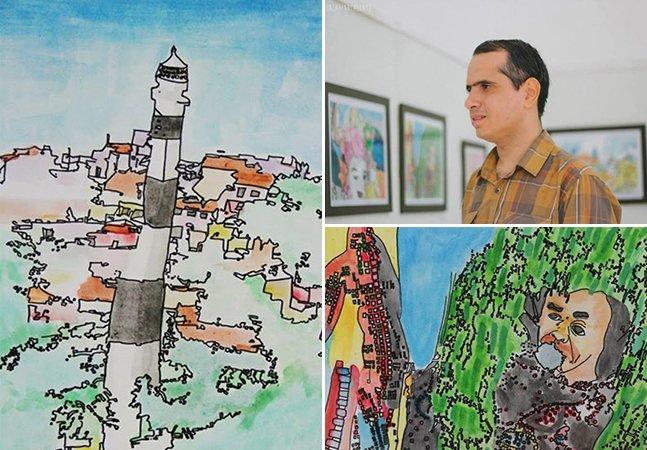 Artista recifense se entrega à arte como forma de superar o autismo