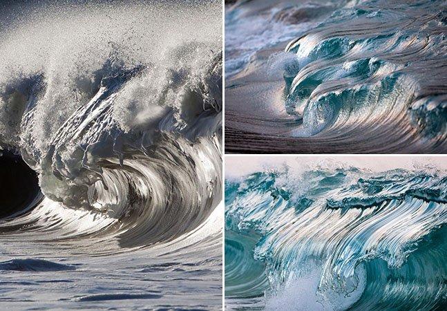 """Fotógrafo francês """"congela"""" ondas para registrar a sua belezas"""