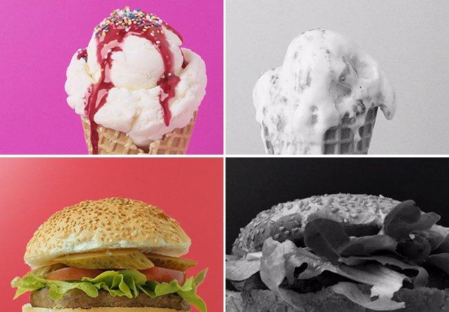 Série revela o que há por trás das fotos de comida que vemos em propagandas