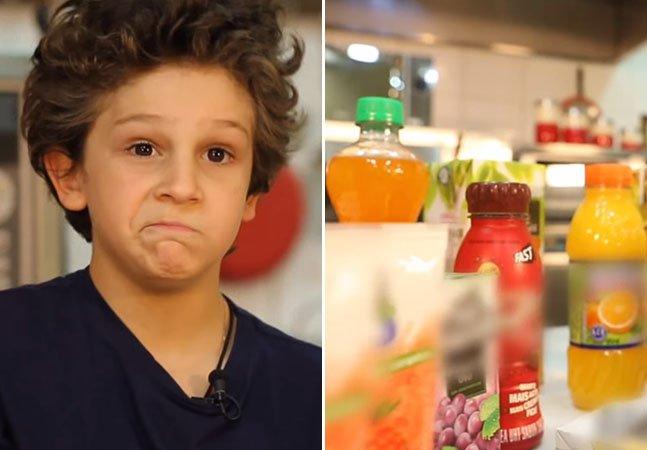 Vídeo mostra a reação de crianças ao descobrirem a quantidade de fruta em seus sucos