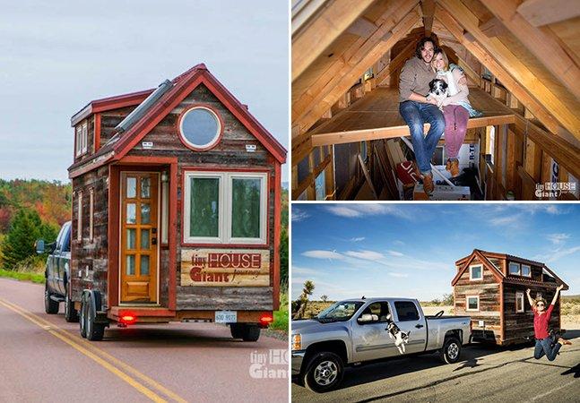 Casal constrói pequena (e adorável!) casa móvel para mudar de vida e cair na estrada