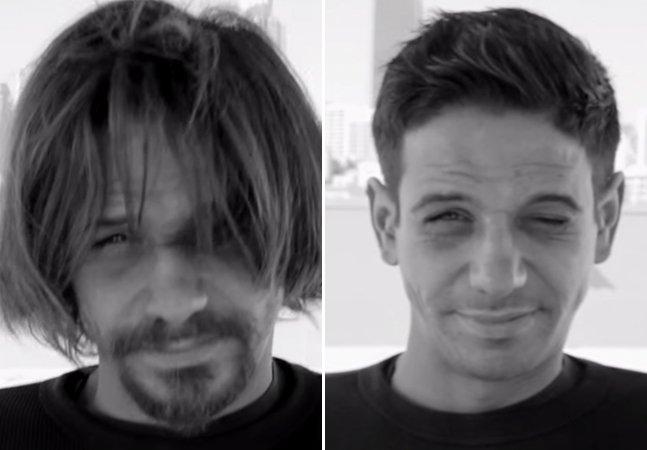 Vídeo mostra a diferença que um corte de cabelo pode fazer para um morador de rua