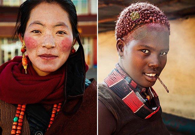 Fotógrafa capta a beleza de mulheres de diferentes países