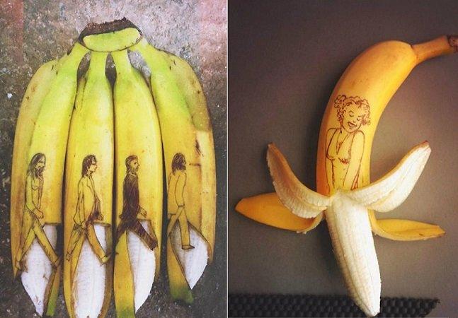 Artista transforma bananas em incríveis obras de arte