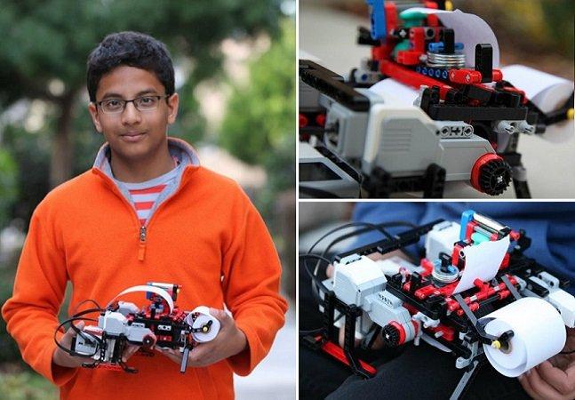 Garoto de 13 anos cria impressora que converte documentos para braile em um minuto