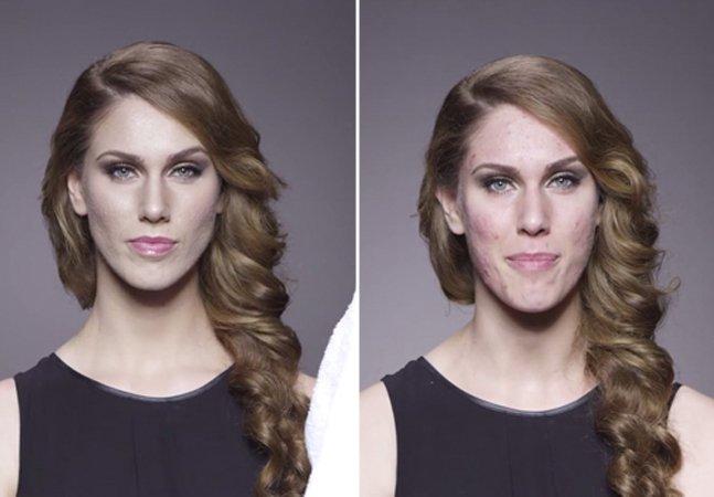 Série de vídeos mostra pessoas tirando a maquiagem em frente às câmerase revelando seus rostos verdadeiros