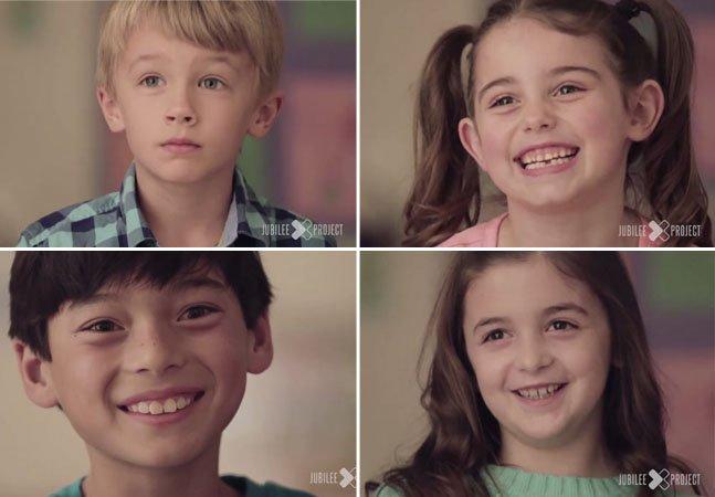 Crianças explicam o que é o amor em vídeo surpreendente