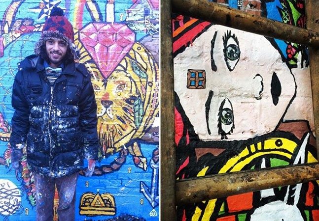 Artista de rua brasileiro viaja a Europa trocando hospedagem e caronas por obras de arte