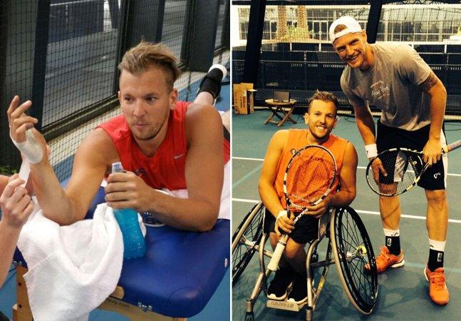 Ex-atleta paraolímpico joga tênis por 24 horas seguidas em cadeira de rodas para contribuir com uma boa causa