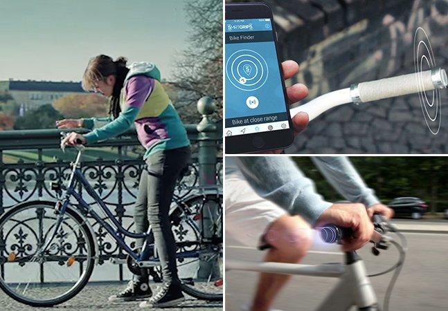 Guidão de bike com GPS vibra para te indicar o caminho certo